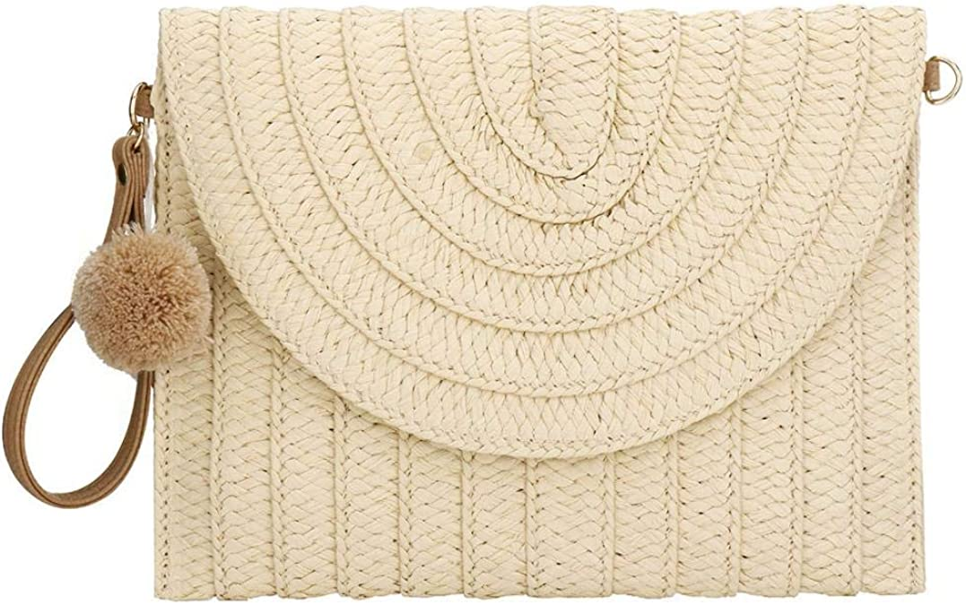 Authentic Handmade Seagrass Straw Wallets for Women Made in Thailand Clutch Wristlet