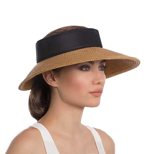 98417cea02c Eric Javits Luxury Women s Designer Headwear Hat - Squishee Halo -  Natural Black