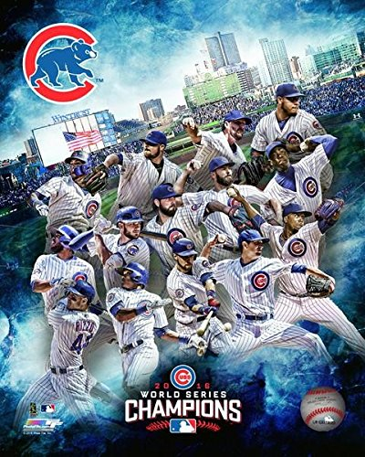 Chicago Cubs 2016 World Series Team Composite Photo (8