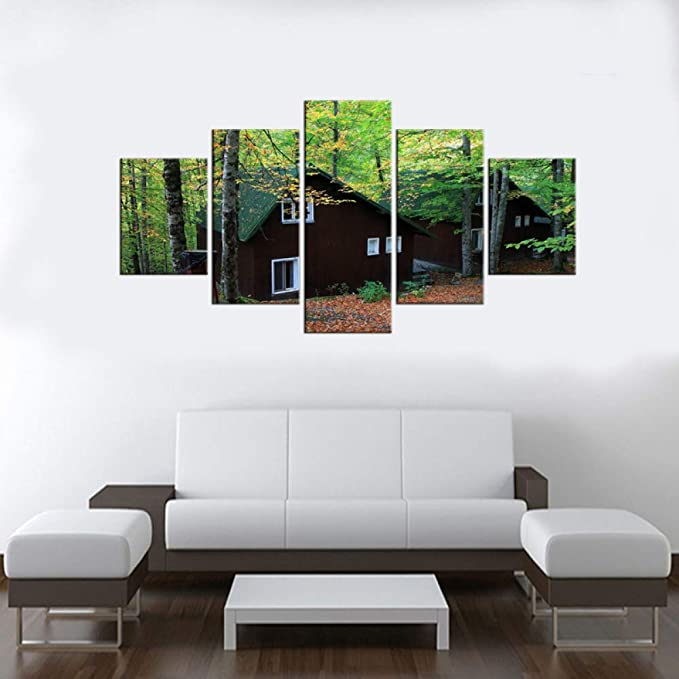 5 Unidades Green Forest HD Canvas Print Painting Artwork Modern ...
