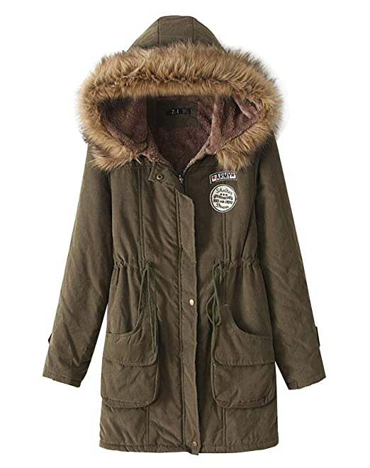 ed732870b Z&I Teenager Girls Winter Fur Trim Hooded Parka Coat Lambswool Lined  Outdoor Jacket