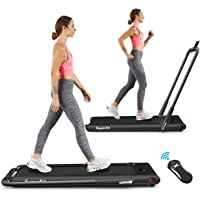 Goplus 2 in 1 Folding Treadmill, 2.25HP Under Desk Electric Treadmill, Installation-Free, with Remote Control, Bluetooth…