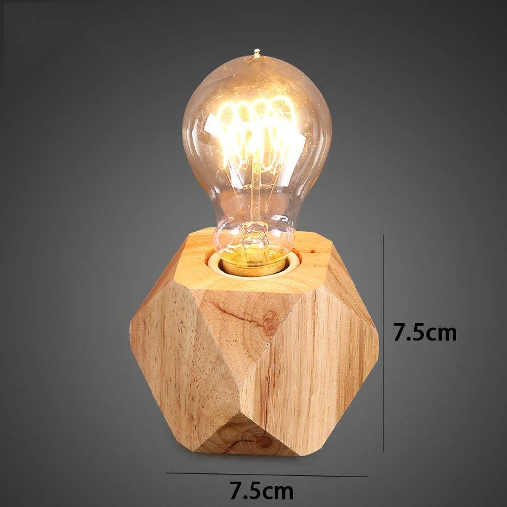 AAXCC Tischlampe Kreative Holz Schreibtischlampe Vintage Schlafzimmer Wohnzimmer Platz Schreibtisch Lamp (Entwurf  B)