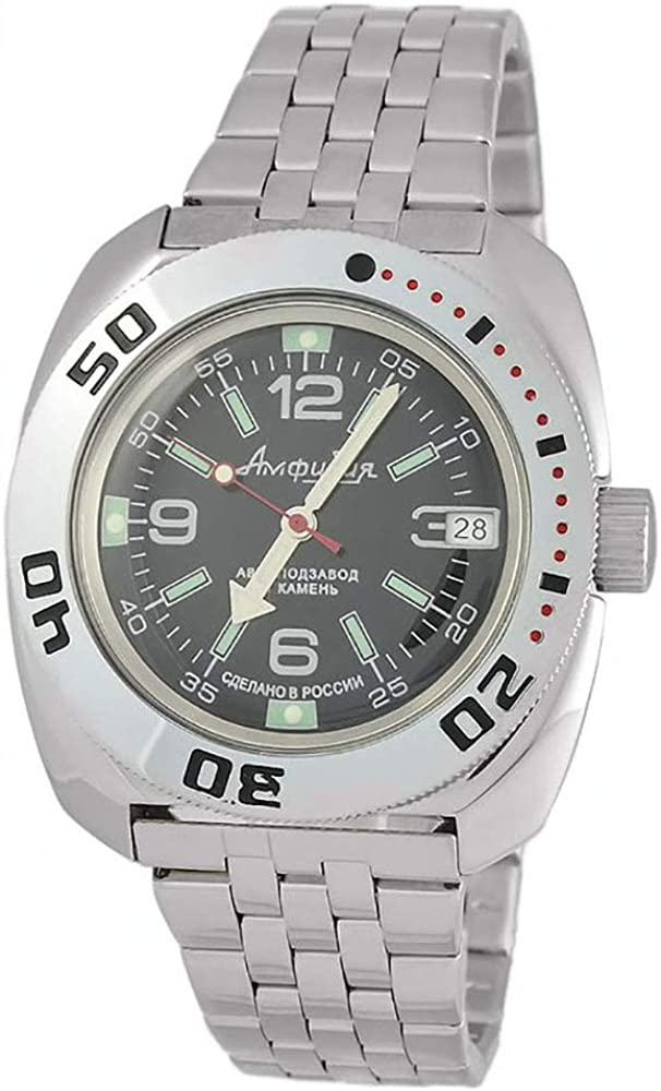 Vostok Amphibian Classic Military Russian Diver Watch Black 2416 710640