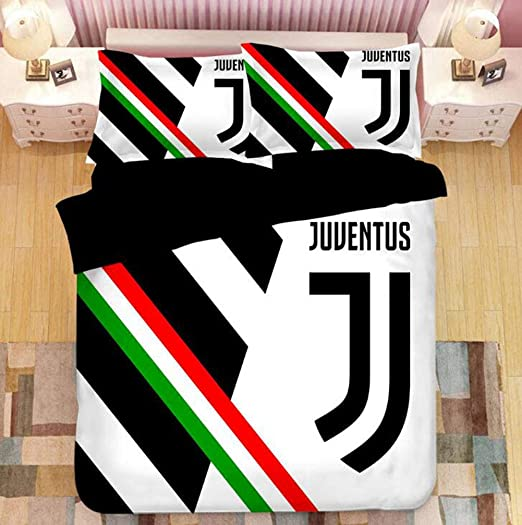 Amazon Com Outgjl Football Comforter Quilt Set Bedding Set For Teen Boys Giant Juventus C Ronaldo Fans Bedding Set Of Three With 2 Pillowcase B Queen Home Kitchen