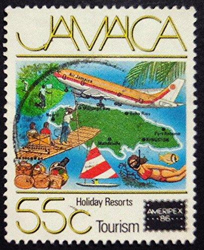 Tourism Jamaica -Handmade Framed Postage Stamp Art 21657AM