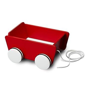 Micki 10.2131.00 - Carrito con ruedas y correa de madera color rojo: Amazon.es: Juguetes y juegos