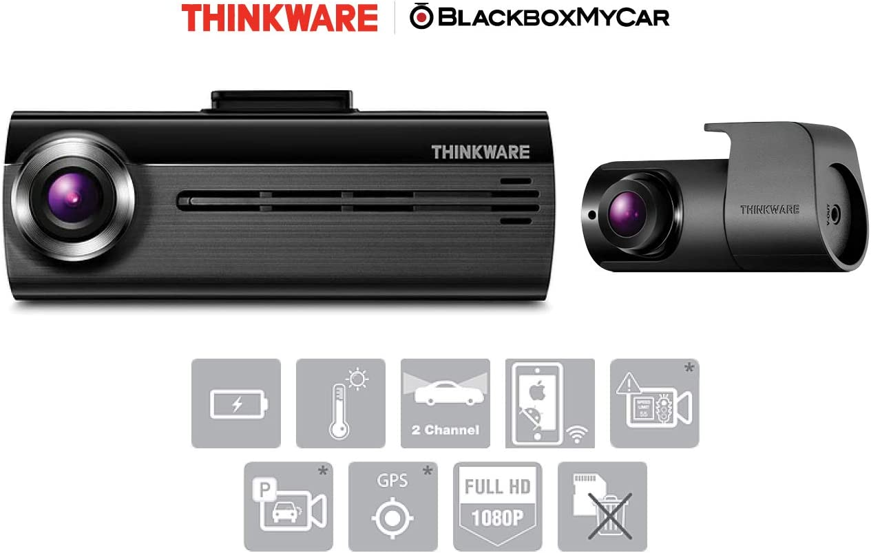 Hard-Wiring Kit /& 16GB Micro SD Card Included Thinkware FA200 2CH Dual Channel Dash Cam