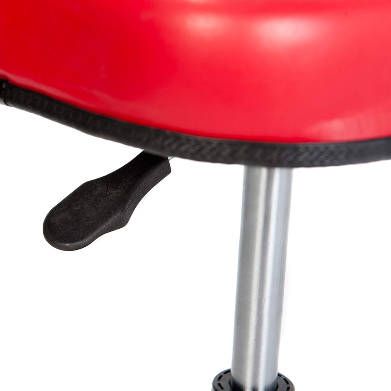 RTJ 300 lbs Capacity Pneumatic Mechanic Roller Seat Adjustable Rolling Stool, Red by RTJ (Image #4)