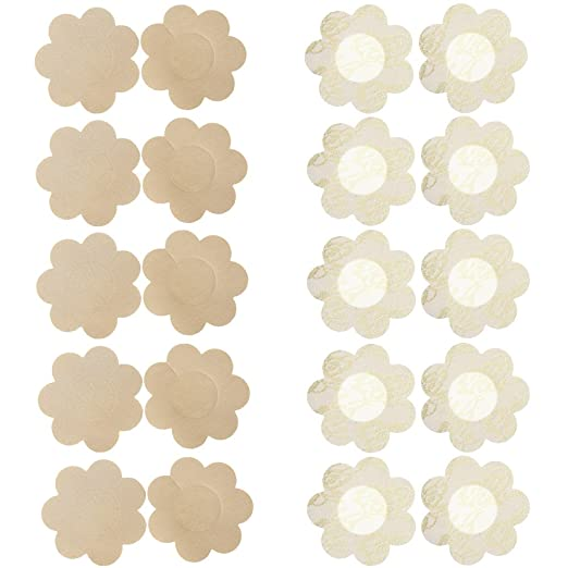 a6556031fc80c Image Unavailable. Image not available for. Color  Ayliss 20pcs Nipple  Covers Disposable Self-Adhesive Breast Petals Pasties