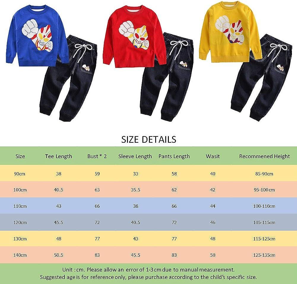 Set di Abbigliamento Bambini Completino Spiderman Maniche Lunghe Tute Ragazze Felpa con Cappuccio Camicie e Pantaloni Pullover
