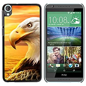 Paccase / SLIM PC / Aliminium Casa Carcasa Funda Case Cover para - Eagle Royal Flying Desert Bird Magnificent - HTC Desire 820