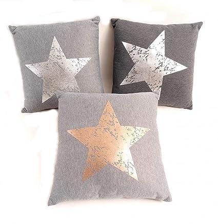 Estrellas Almohada 45 X 45 cm Cojín con relleno Estrella de ...