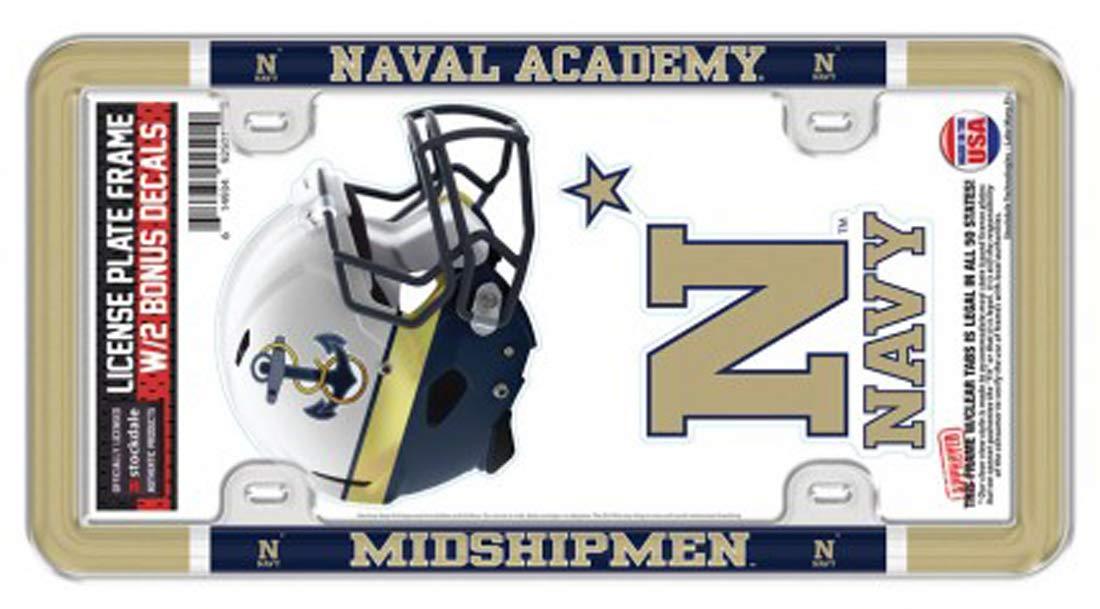 WinCraft アメリカ海軍アカデミー海軍 海軍 中間船員 ナンバープレートフレーム デカール 2枚