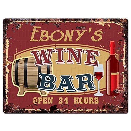 EBONY'S WINE BAR Tin Chic Sign Rustic Vintage style Retro Kitchen Bar Pub Coffee Shop Decor man cave Decor Aluminum Metal Sign 10