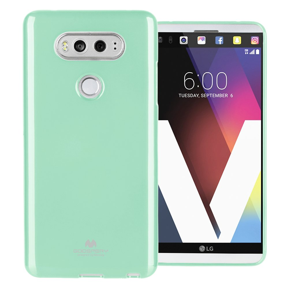 Mercury Pearl Jelly for LG V20 Case with Screen Protector Slim Thin Rubber Case (Mint) LGV20-JEL/SP-MNT