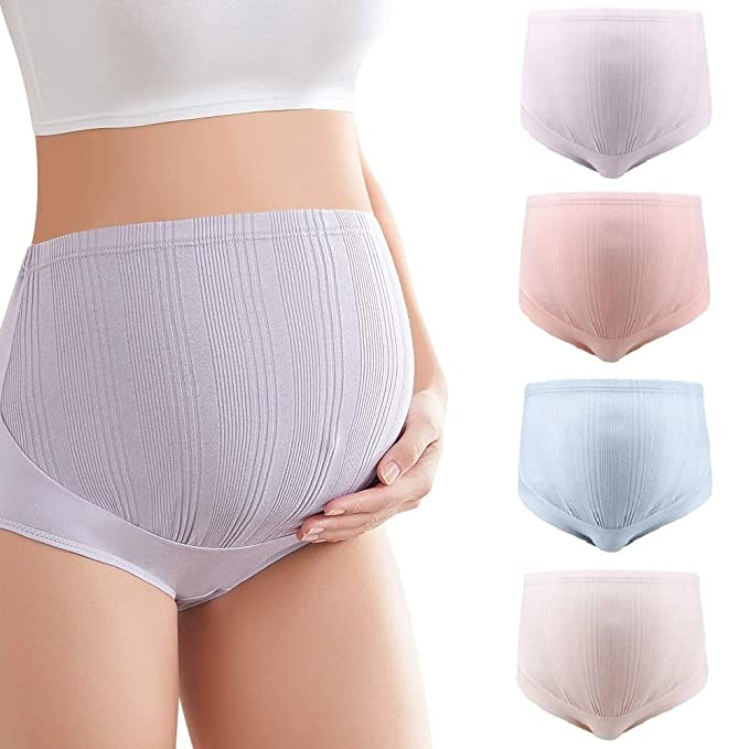 Mama Cotton Maternity Underwear Women's Over Bump Maternity Panties (L-3XL, Multipack)