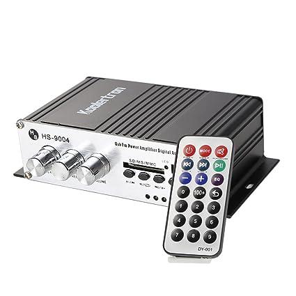 Amplificador Integrado tamaño compacto Mini de alta potencia Hi Fi estéreo USB MP3 SD AMP Amplificador