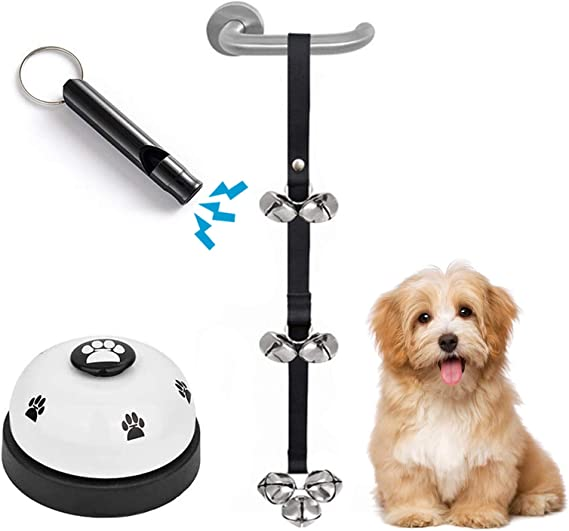 Uaerpov Pet Doorbell for Doggie Potty Training Dog Doorbell with Strap Home Dog Toys for Puppy Pet Training