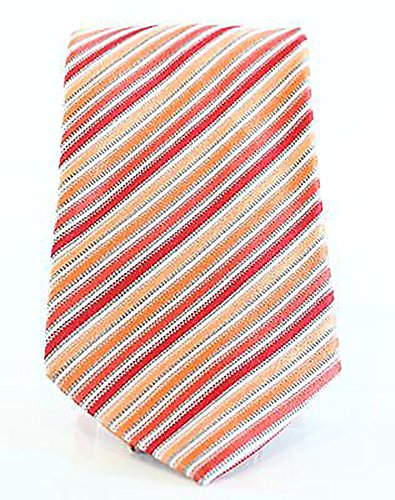 Geoffrey Beene Clothing Women (Geoffrey Beene Mens Stripe Done Right Stripe Classic Neck Tie Orange O/S)