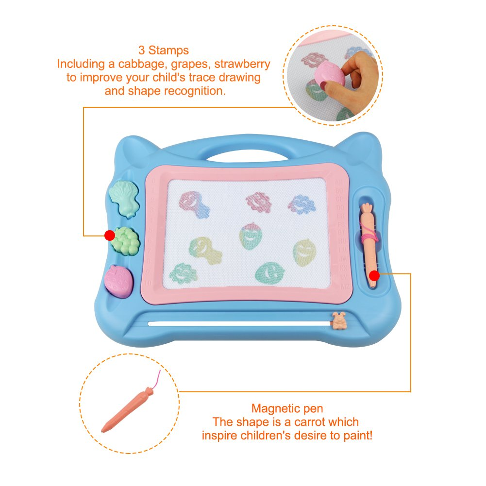 Magnetic Drawing Doodle Board Sketchpad, Great for Learning Writing and Painting Portable with Bracket for Children Toddlers Kids Little Boys Little Girls in Travelling at school and Kindergarten