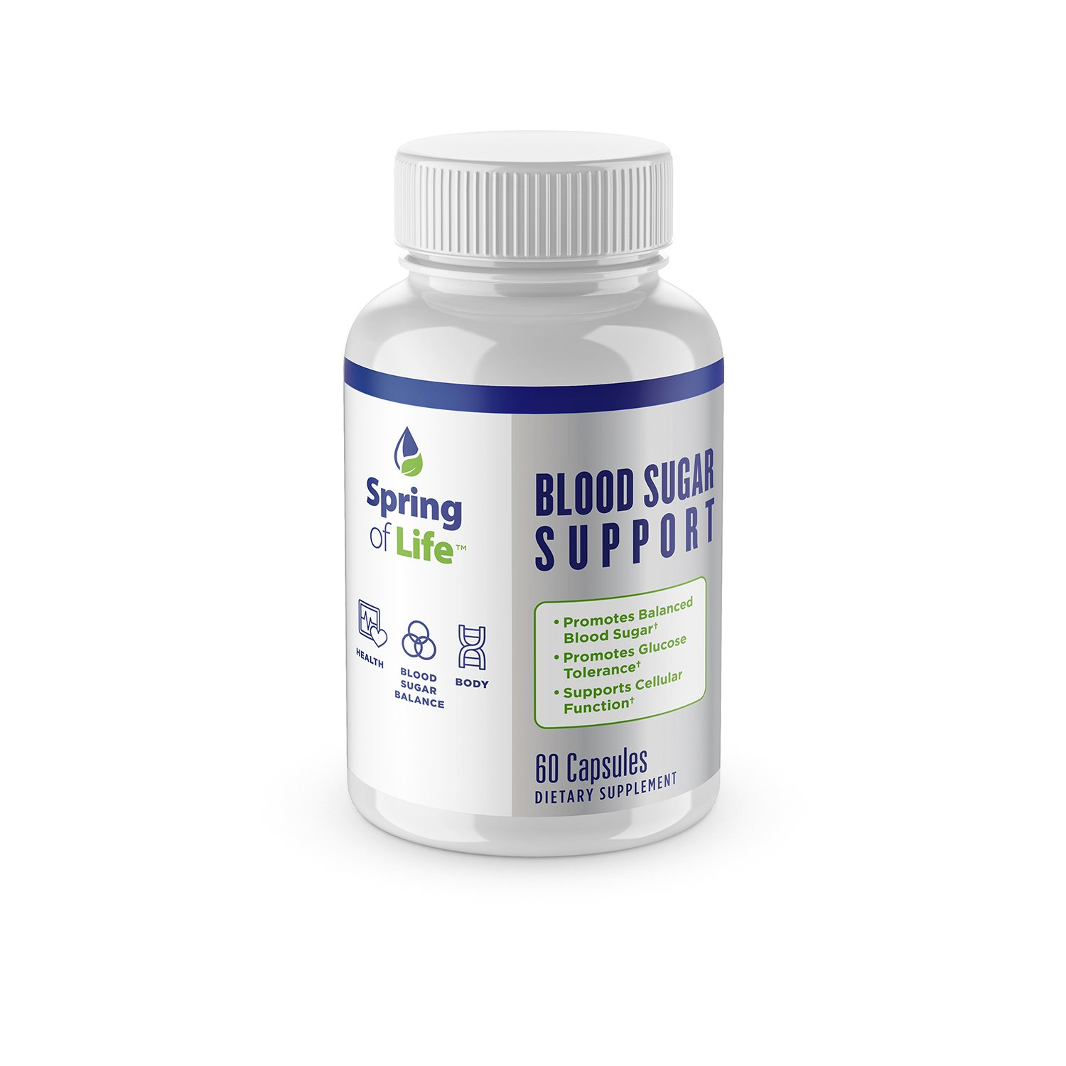 Spring Of Life Blood Sugar Support Formula, 60 Capsules