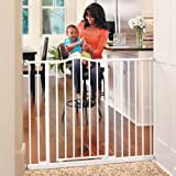 """Toddleroo by North States 46.8"""" wide Tall & Wide Portico Arch Baby Gate: Heavy duty metal gate that's both extra wide and extra tall. Pressure Mount. Fits 28.2""""-46.8"""" wide (36"""" tall, Soft White)"""