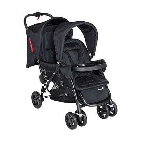 Safety 1st Duodeal Geschwister-/Zwillingskinderwagen, kompakt zusammenfaltbar, ab Geburt bis ca. 3,5 Jahre geeignet, schwarz