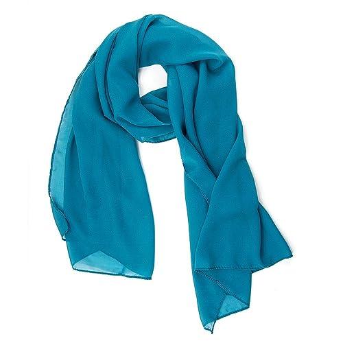ManuMar Pañuelo de cuello de poliéster para mujer, color uniforme
