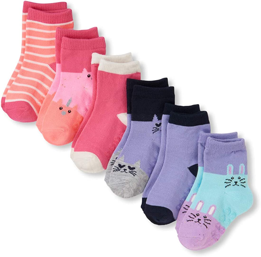 The Childrens Place Baby Girls 6 Pack Socks 2111240