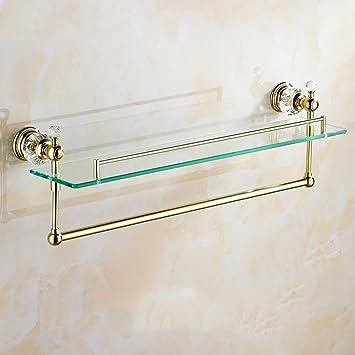 Badezimmer-Zubehör Regal Europäische Stil Kristall Serie Gold Glas ...