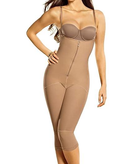 176c74f1a6b Leonisa Womens Capri Slimming Bodysuit Firm Compression Control Shaper