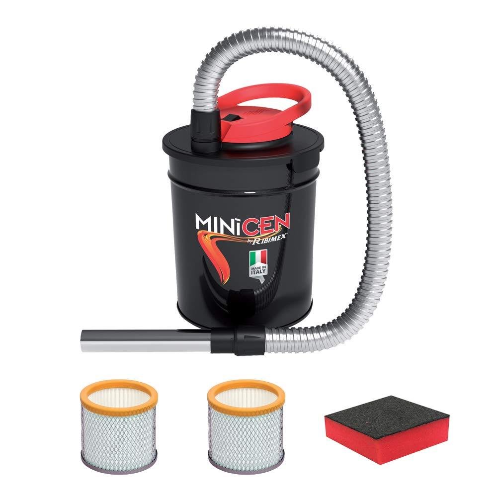 ASPIRACENERE ELETTRICO MINICEN 800 W - 10 L con doppio filtro e spugna RIBIMEX