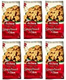 Archway Holiday Gingerbread Man Cookies, 10 Oz (Pack of 6)