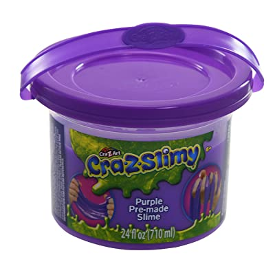 Cra-Z-Art CRA-Z-Slimy Premade Slime Goop Bucket Storage Tub with Handle, Purple, 24 Ounces: Toys & Games
