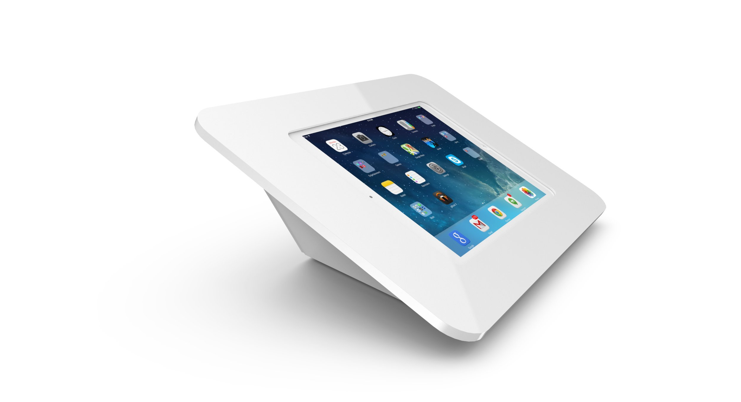 Maclocks 340W260ROKW Rokku Secure Enclosure Capsule Kiosk for iPad Air/Pro 9.7 Inch (White)