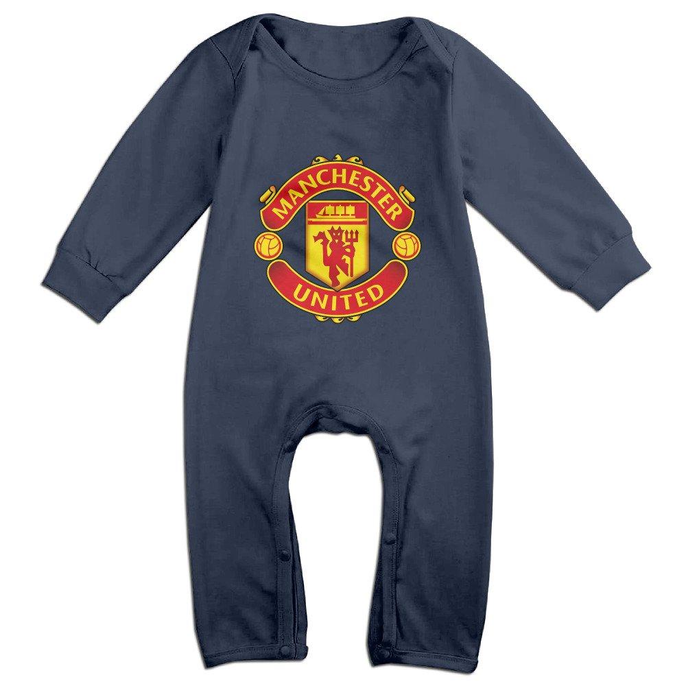 Cute Champions League Manchester United Logo Bodysuit For Infant Navy