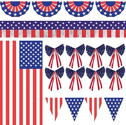 Amazon Com Amscan Patriotic Party Ultimate Outdoor Decorating Kit 1 Piece Kitchen Dining