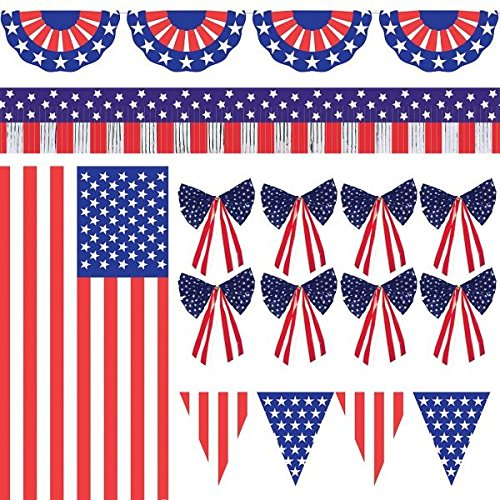 Patriotic American Flag Outdoor Decorating Kit -