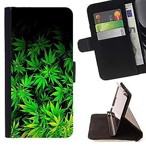 - 420 Weed weed Marijuana Kush Weed / Personalizada del estilo del dise???¡Ào de la PU Caso de encargo del cuero del tir????n del soporte d - Cao - For Samsung Galaxy S3 Mini I8190Samsung Galaxy S3 Mini