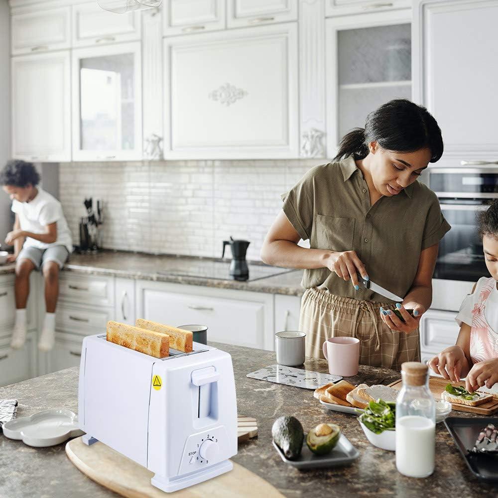 750w 6 Ingranaggi Temporizzatori Due Slot in Acciaio Inox Riscaldatore di Toast per Cucina Mattina Phonleya Tostapane 2 Fette di Pane