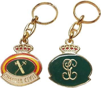 LGP - Llavero Emblema Guardia Civil y con Las Letras GC, 2 Caras: Amazon.es: Equipaje