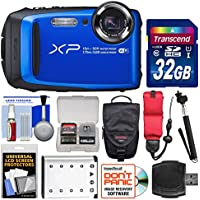 Fujifilm FinePix XP90 Shock & Waterproof Wi-Fi Digital Camera (Blue) with 32GB Card + Case + Battery + Selfie Stick + Float Strap + Kit Basic Intro Review Image
