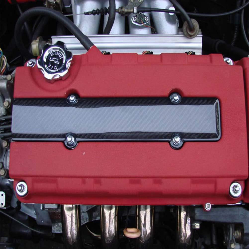 Schimer Copri candela motore per Honda B18 B16 B Serie VTEC in fibra di carbonio