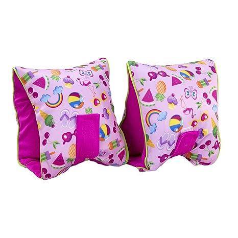 Flotadores de brazo para las niñas suave tejido tamaño mediano/grande