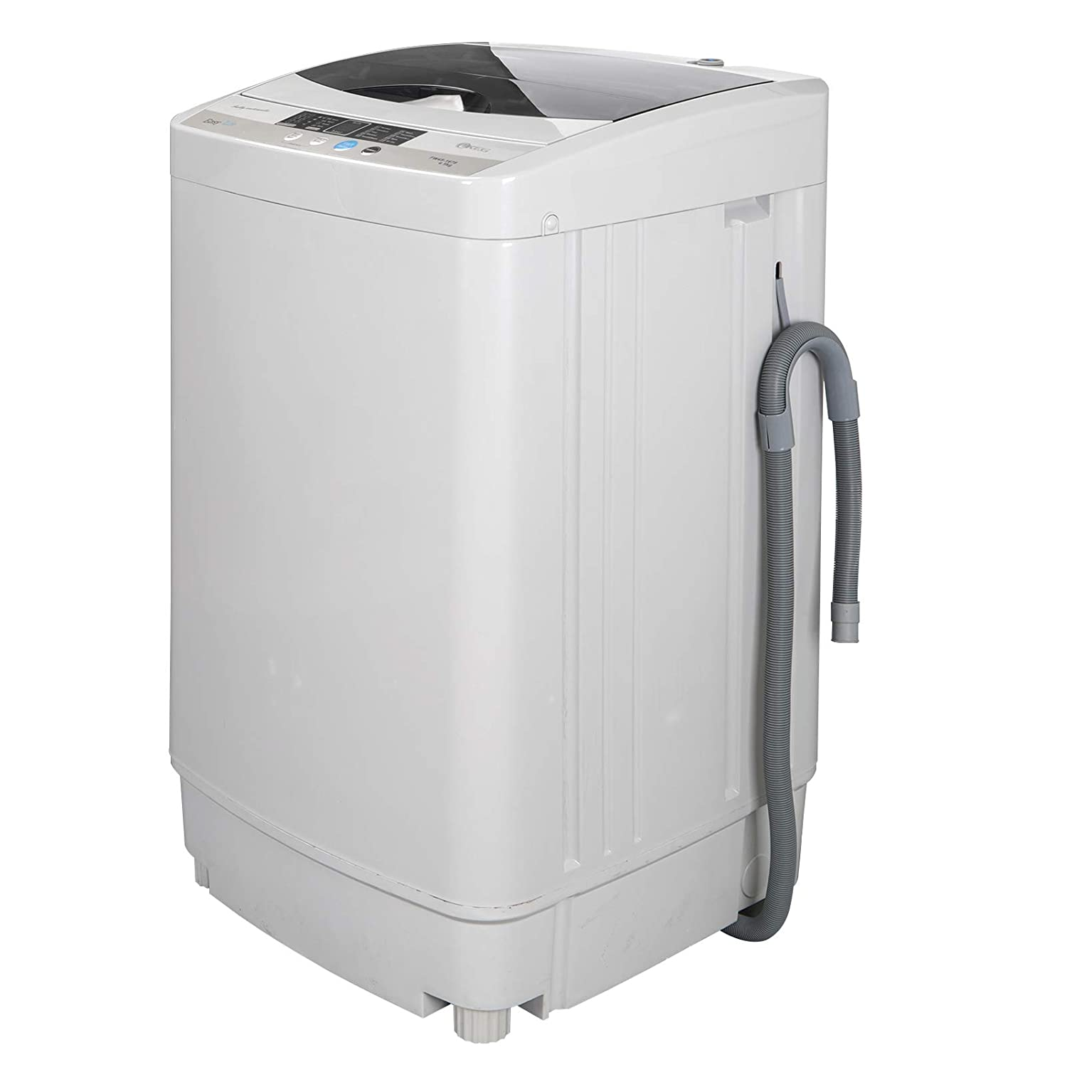 ZENSTYLE Portable Compact Design Multifunctional Laundry Washer/Spinner Fully Automatic 10 LB Top Load Mini Washing Machine w/Drain Pump, 5.74 FT Power Cord, 6.57 FT Inlet Hose