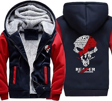 メンズフーディーフルジッパープリントリーパーベルベットパッド入りフード付きセーターコートフリースフーディー、冬に適しています