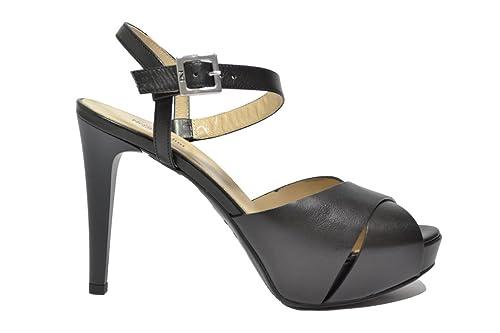 NERO GIARDINI Sandali scarpe donna nero 7900 elegante mod. P717900DE