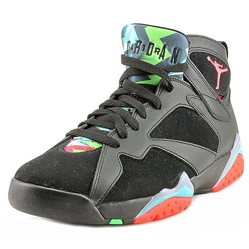 purchase cheap 719fd 1e197 Nike Mens Air Jordan 7 Retro 30th Marvin Martian Black/Infrared 23-Blue  Graphite Suede Size 12 Basketball Shoes