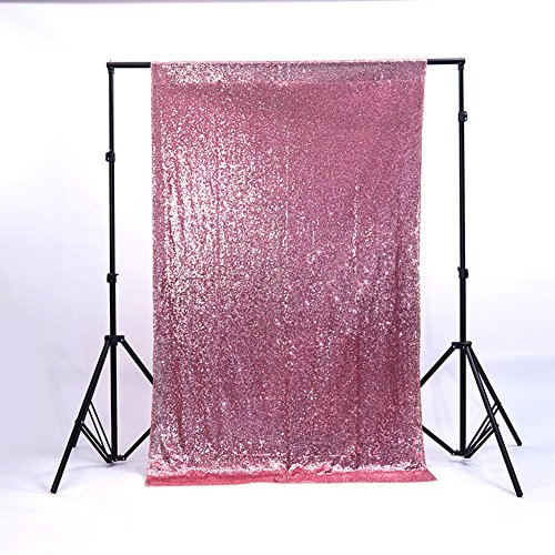 Zdada 3.5FTX6FT Not Through Sequin Makeup Tutorials Backdrop for Video-Blush Pink -
